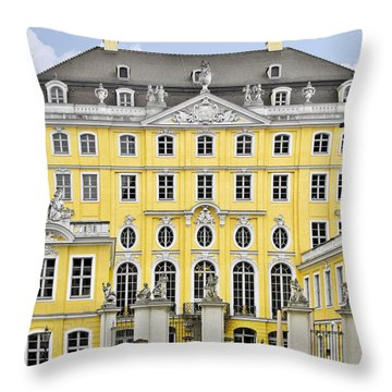 Dresden Taschenberg Palace - Celebrate Love While It Lasts Throw Pillow by Christine Till