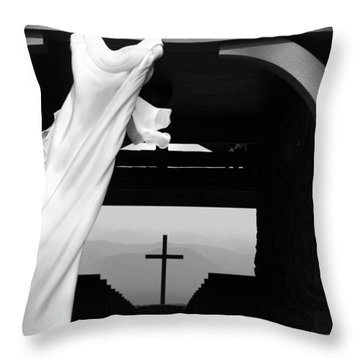 Dress And Cross Throw Pillow