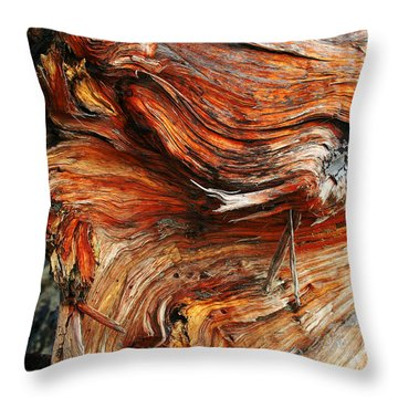 Drift Redwood Throw Pillow