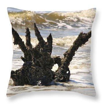 Driftwood Dragon Throw Pillow by Jim Ziemer