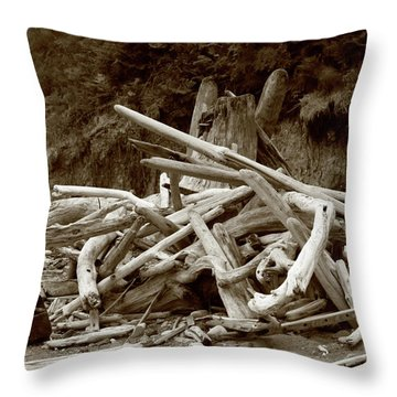 Driftwood Pile San Juan Throw Pillow