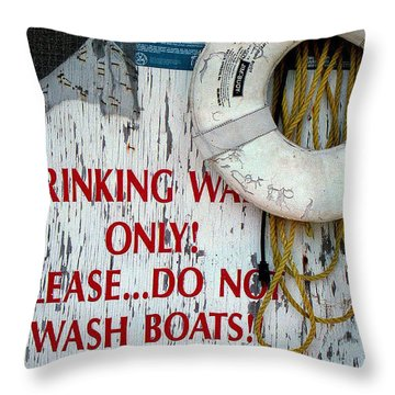Drinking Water Only Throw Pillow