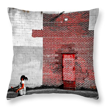 Drive Throw Pillow by Skip Hunt