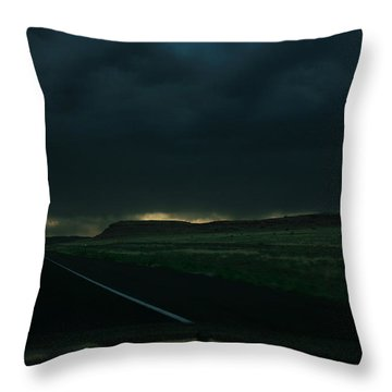 Driving Rain Number One Throw Pillow by Lon Casler Bixby