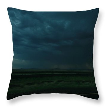 Throw Pillow featuring the photograph Driving Rain Number Two by Lon Casler Bixby