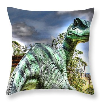 Dromaeosauridae Throw Pillow
