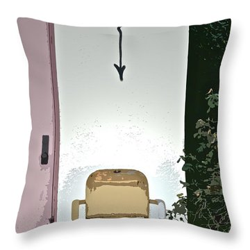 Drop Throw Pillow by Gwyn Newcombe