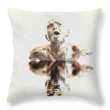 Drowning In Sorrow Throw Pillow