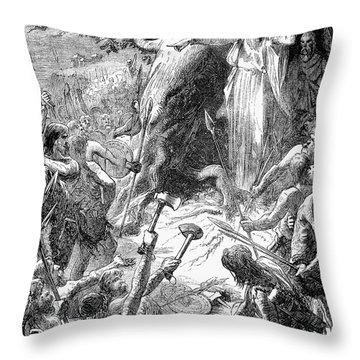 Druids And Britons Throw Pillow by Granger