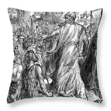 Druids Throw Pillow by Granger