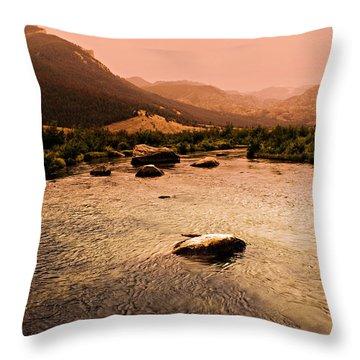 Dubois Sunset Throw Pillow by Marty Koch