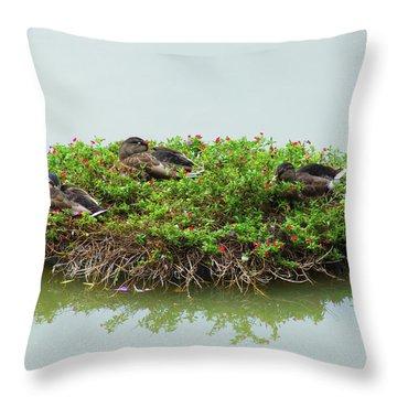Duck Heaven Throw Pillow
