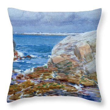 Duck Island Throw Pillow by Childe Hassam