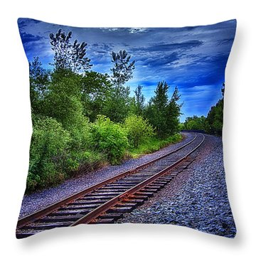 Duluth Railway Throw Pillow by Linda Tiepelman