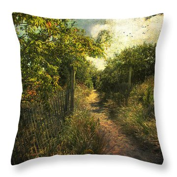 Throw Pillow featuring the photograph Dune Path by John Rivera