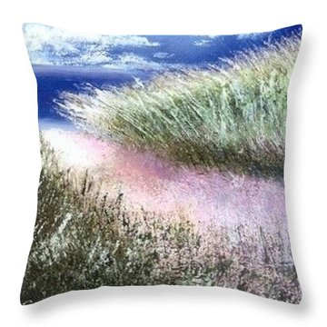 Dune Path Throw Pillow by Joseph Gallant