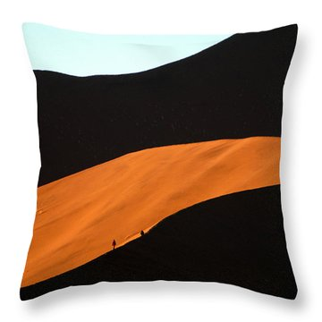 Dune Tunnel Throw Pillow
