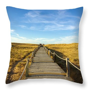 Dune Walkway Throw Pillow by Carlos Caetano