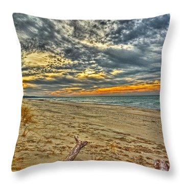 Throw Pillow featuring the photograph Dunes Sunset I by William Fields