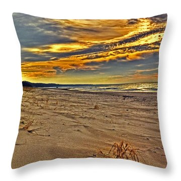 Throw Pillow featuring the photograph Dunes Sunset II by William Fields