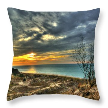 Throw Pillow featuring the photograph Dunes Sunset IIi by William Fields