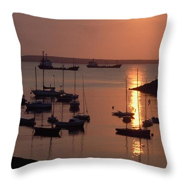 Dunmore East, Co Waterford, Ireland Throw Pillow