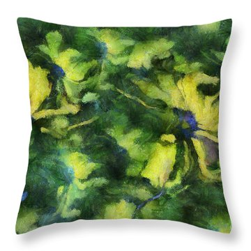 Duo Daisies - Bk01bdp01a Throw Pillow by Variance Collections