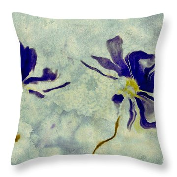 Duo Daisies Throw Pillow by Variance Collections