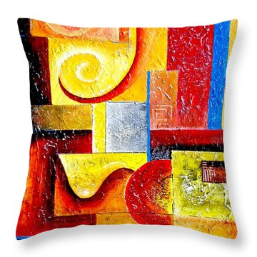 Duospiral Throw Pillow