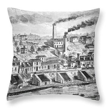 Dupont Powder Mill, 1854 Throw Pillow by Granger