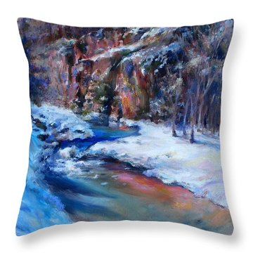 Durango Stream Throw Pillow by Bonnie Goedecke