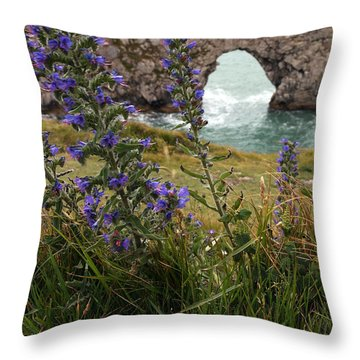 Durdle Door Throw Pillow