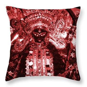 Durga Throw Pillow by Photo Researchers