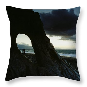 Dusk At Dungeness Throw Pillow by Rick Frost