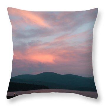 Dusk At Priest Lake Throw Pillow by David Patterson
