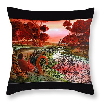 Dusk Throw Pillow by Ayan  Ghoshal