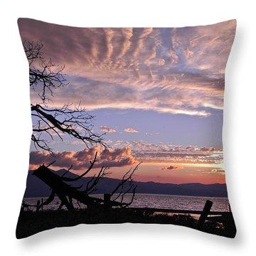 Dusk Over Lake Tahoe Throw Pillow by Kirsten Giving