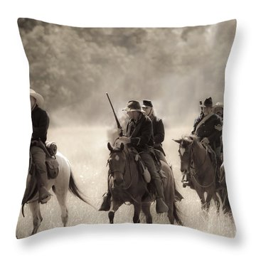 Dusty Trail Throw Pillow by Kim Henderson