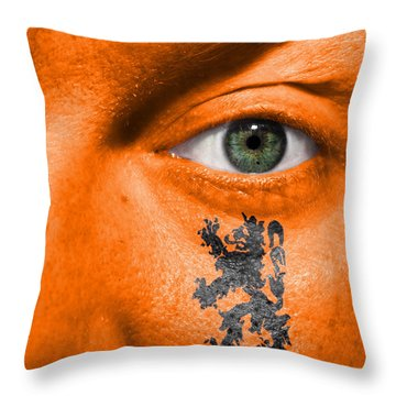 Dutch Lion - Coat Of Arms Throw Pillow by Semmick Photo