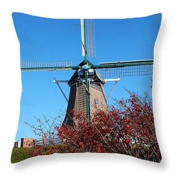Dutch Windmil Throw Pillow by Bruce Bley