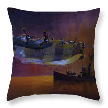 Duty Done Throw Pillow by Ray Agius