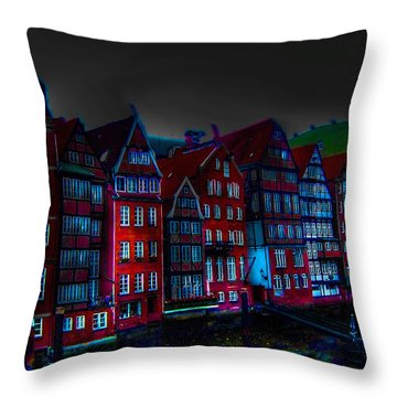 Dyke Road  -  Hamburg Throw Pillow by EricaMaxine  Price