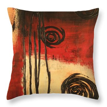 Dynamic Red 1 Throw Pillow