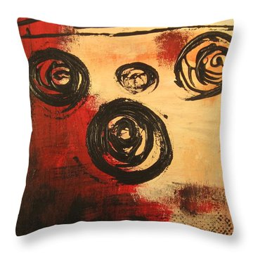 Dynamic Red 2 Throw Pillow