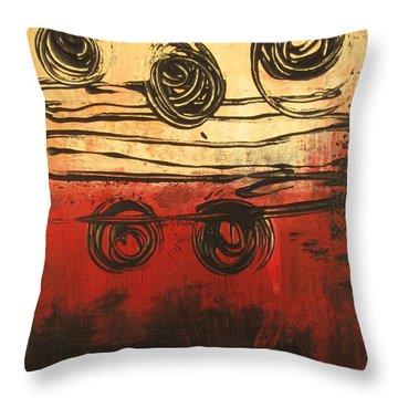 Dynamic Red 3 Throw Pillow