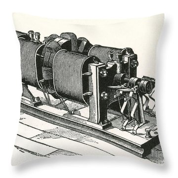 Dynamo Electric Machine Throw Pillow by Science Source