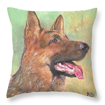 Eager - Time For Dinner   Throw Pillow