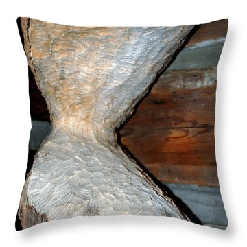Eager Beaver Damage Throw Pillow by LeeAnn McLaneGoetz McLaneGoetzStudioLLCcom