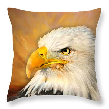 Eagle Burst Throw Pillow by Marty Koch