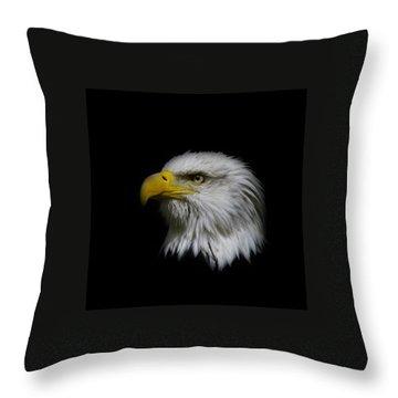 Eagle Head Throw Pillow by Steve McKinzie